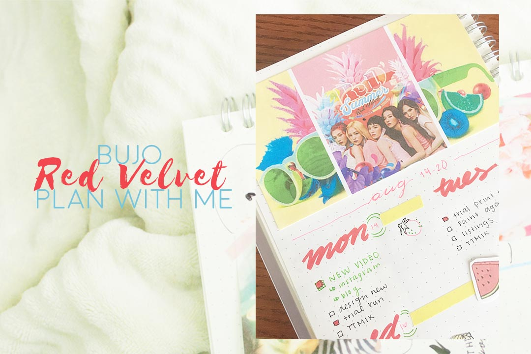 BUJO PLAN WITH ME Red Velvet Red Flavor
